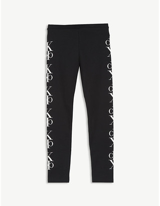 Calvin Klein Jeans Tape logo cotton leggings 4-16 years