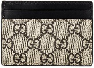 Gucci Cardholder in Beige Ebony & Multi & Black | FWRD