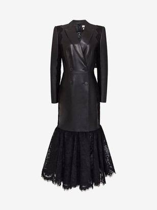 Alexander McQueen Leather and Lace Coat