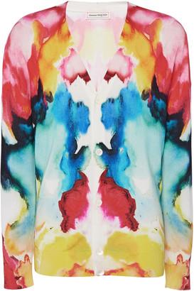 Alexander McQueen Tie-Dye Silk Cardigan