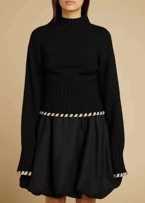 KHAITE The Colette Sweater in Black