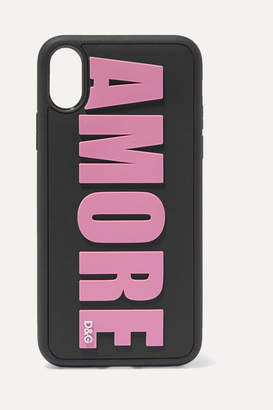 Dolce & Gabbana Amore Embossed Pvc Iphone X Case - Pink