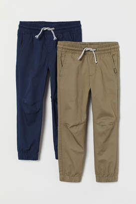 H&M 2-pack Pull-on Pants - Blue