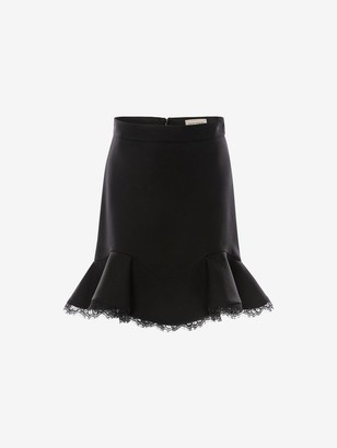 Alexander McQueen Lace Hem Mini Skirt