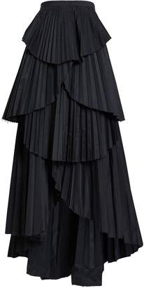 AMUR Ophelia Tiered High-Low Skirt