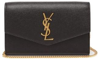 Saint Laurent Uptown Pebbled-leather Cross-body Bag - Womens - Black