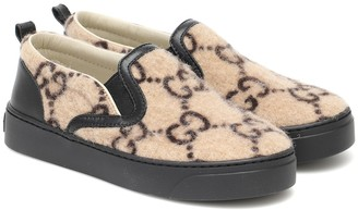 Gucci Kids GG wool-felt slip-on sneakers