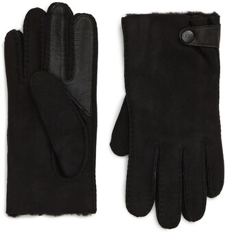 UGG Genuine Shearling Lined Leather Tech Gloves