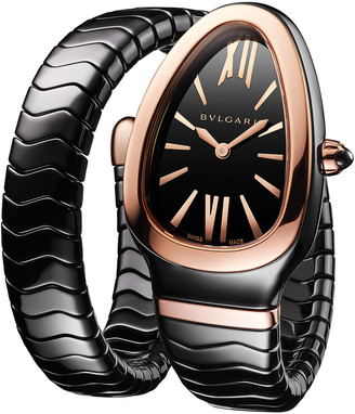 Bvlgari 35mm Serpenti Spiga 18k Rose Gold Wrap Watch