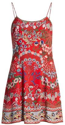 Alice + Olivia Ira Floral A-Line Dress