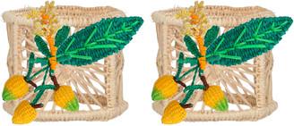 Mercedes Salazar Set Of 2 Medium Mango Candle Holder