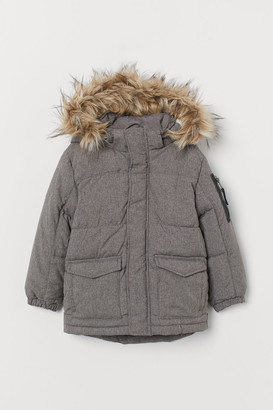 H&M Padded Hooded Jacket - Gray