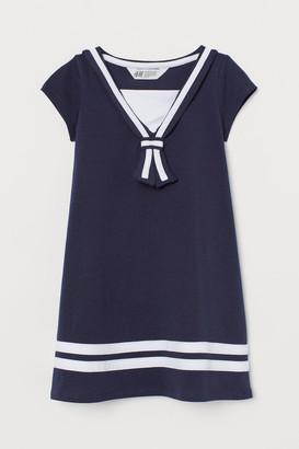 H&M Cotton Sailor Dress - Blue