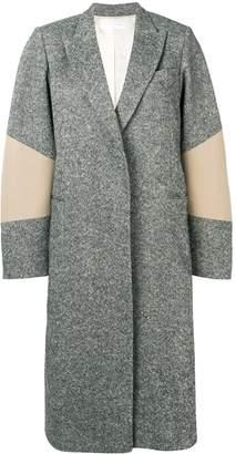 Victoria Beckham sleeve patch oversized coat