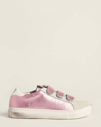P448 Kids Girls) Pink E8 Ralph Leather Low-Top Sneakers