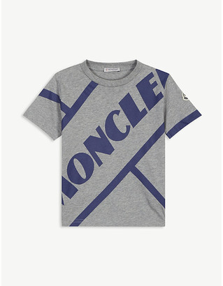Moncler Logo-printed cotton T-shirt 4-14 years
