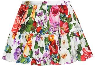 Dolce & Gabbana Floral cotton skirt