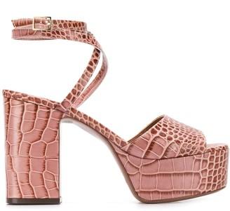 L'Autre Chose croc-effect 100mm platform sandals