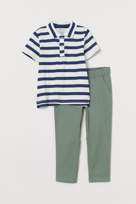 H&M 2-piece Cotton Set - Green