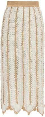 My Beachy Side Firtek Crocheted Midi Skirt