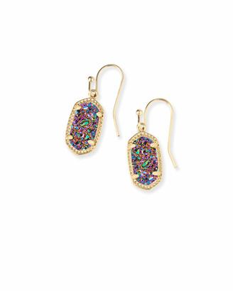 Kendra Scott Lee Gold Drop Earrings in Multicolor Drusy