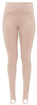 adidas by Stella McCartney Foldover-waist Stirrup Leggings - Womens - Light Pink