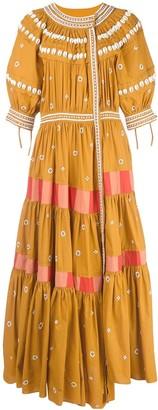 Ulla Johnson Innika shell embroidered midi dress