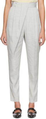 Proenza Schouler Grey Draped Suit Trousers