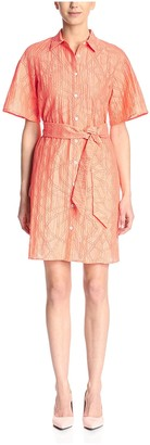 Christian Siriano Women's Eyelet Shirt Dress