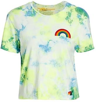 Aviator Nation Rainbow Embroidered Tie-Dye T-Shirt