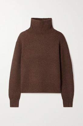 Rag & Bone Pierce Ribbed Cashmere Turtleneck Sweater - Chocolate