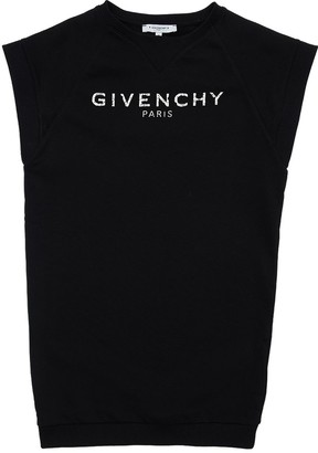Givenchy Logo Printed Cotton Sweatshirt Dress