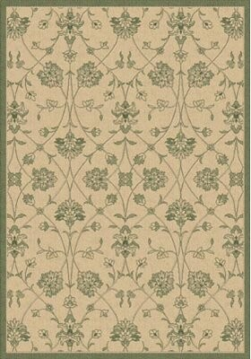 """Rachael Floral Natural/Green Indoor/Outdoor Rug Charlton Home Rug Size: Rectangle 6'7"""" x 9'6"""""""