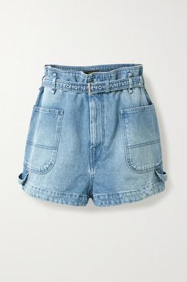 Isabel Marant Belted Denim Shorts - Light denim