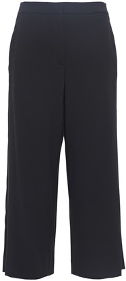 Rag & Bone Molly Cropped Satin-trimmed Cady Wide-leg Pants