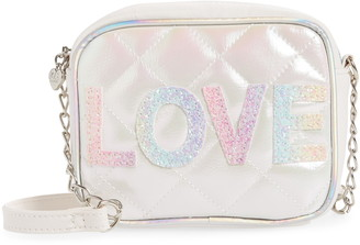 Omg Accessories OMG Love Quilted Crossbody Bag