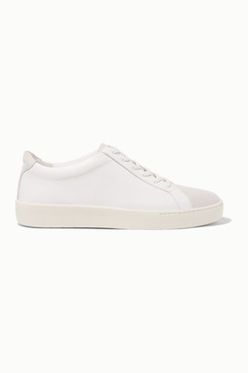 Vince Janna Suede And Leather Sneakers - White