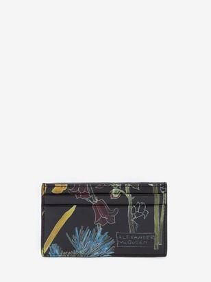 Alexander McQueen Deconstructed Floral Cardholder