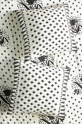 Anthropologie Jacquard-Woven Jeanette Euro Sham By in Black Size EURO SHAM