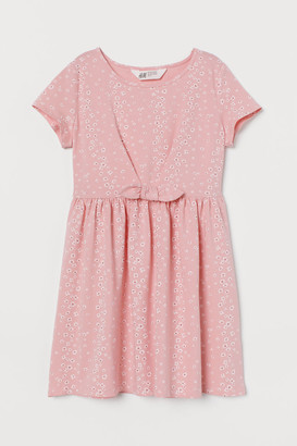 H&M Patterned Jersey Dress - Pink