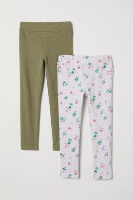 H&M 2-pack Leggings - Gray