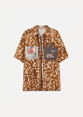 Burberry Oversized Printed Cotton-twill Shirt - Brown