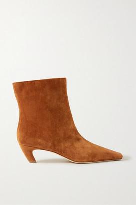 KHAITE Suede Ankle Boots - Light brown
