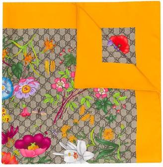 Gucci Flora print silk scarf