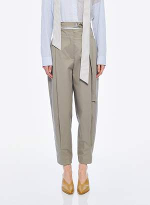 Tibi Myriam Twill Double Waisted Sculpted Pant