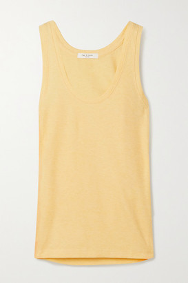 Rag & Bone Ribbed Cotton And Modal-blend Tank - Pastel yellow