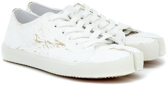 Maison Margiela Tabi distressed canvas sneakers