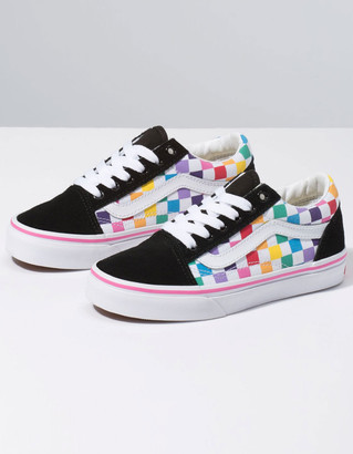 Vans Checkerboard Old Skool Rainbow Girls Shoes