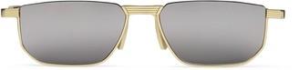 Gucci Rectangular metal sunglasses