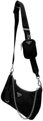 Prada Re-Nylon Black Synthetic Handbags